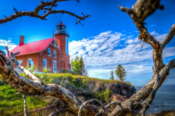Lake Superior Lighthouse by Bob Vogt