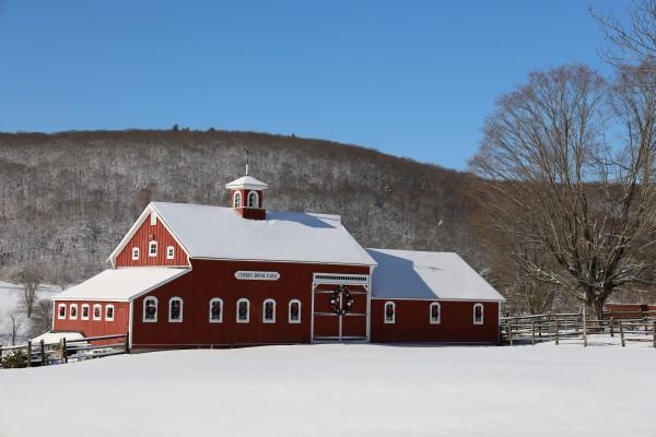 Snowy Barn by Brian Camilleri Photography