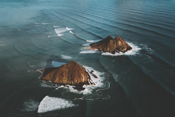 Mokolua Waves by Brian Daniel