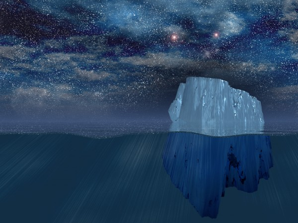 Iceberg at night by Bruce Rolff
