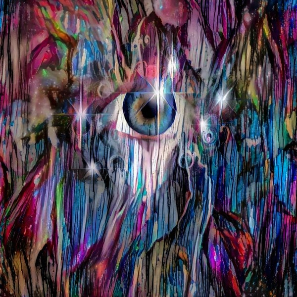 Eye in Colorful Space by Bruce Rolff