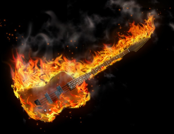 Burning Bass by Bruce Rolff