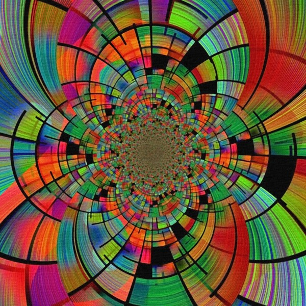 Colorful Geometric Fractal by Bruce Rolff