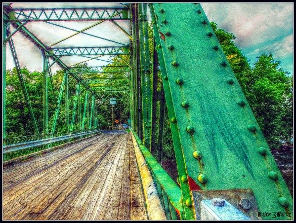 The Old Green Bridge HDR by Bruce Swartz