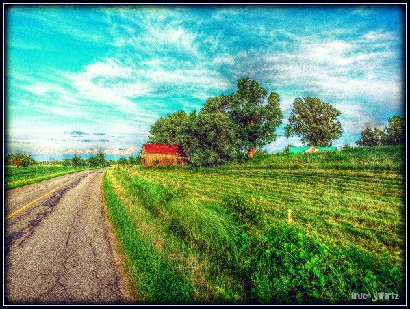 Country Road HDR by Bruce Swartz