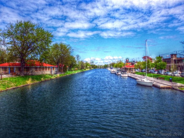 View Of The Old Canal HDR by Bruce Swartz