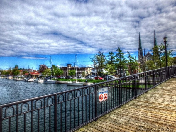 On The Boardwalk in HDR by Bruce Swartz