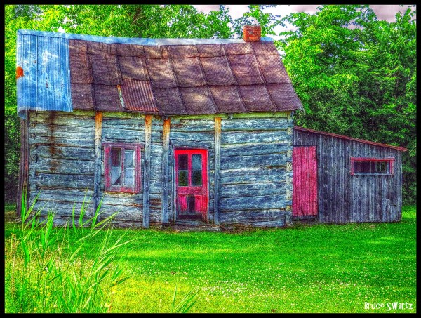 Abandoned Cabin in HDR by Bruce Swartz