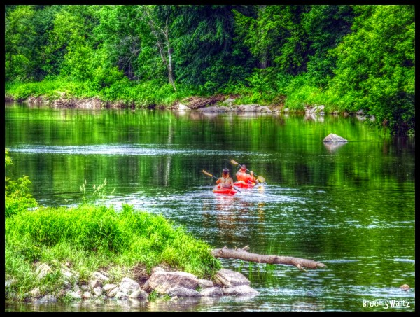 Nature Scene Canoes  HDR by Bruce Swartz