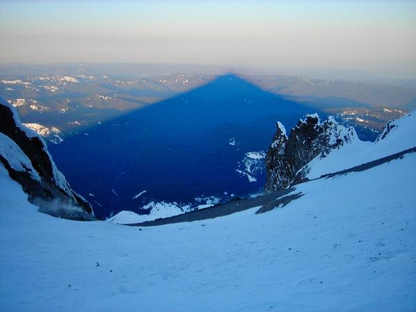 Mt. Hood Sunrise Shadow by Bryan Bourn
