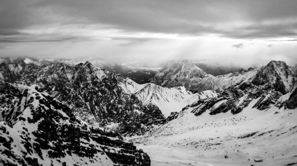 Zugspitze in black and white by By the C Media