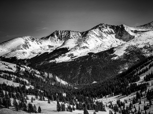 Copper Mountain in black and white by By the C Media