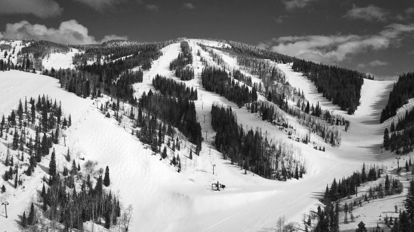 Mid Mountain Mountain Views BW by By the C Media