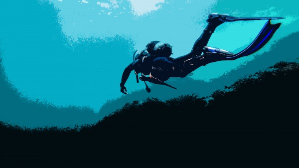Scuba Diver poster by By the C Media