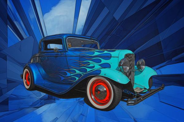 1932 Ford 3-Window Coupe by COOL ART BY RICHARD