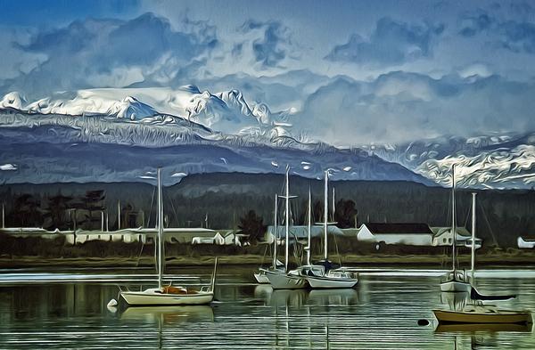 Comox Glacier Overlooking Comox Harbor by COOL ART BY RICHARD