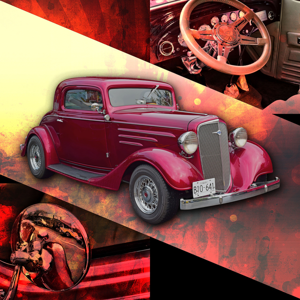 1935 Chevrolet 5-Window Coupe by COOL ART BY RICHARD