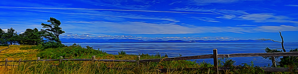View from Cape Lazo by COOL ART BY RICHARD