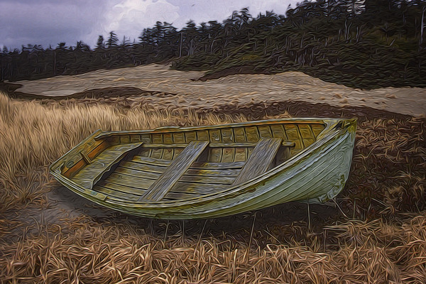 Clinker-built Rowboat by COOL ART BY RICHARD