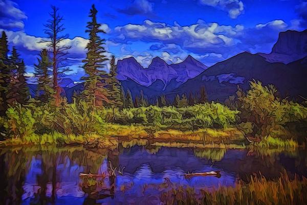 Three Sisters Peaks by COOL ART BY RICHARD