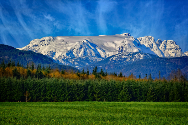 Comox Glacier in Early Spring by COOL ART BY RICHARD