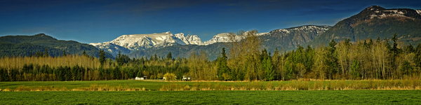 Comox Glacier Panorama by COOL ART BY RICHARD