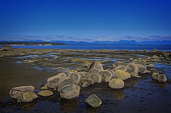Boulders at Low Tide by COOL ART BY RICHARD