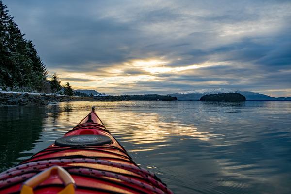 Kayak sunset 2 by Caleb Nagel
