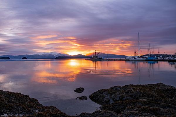 Harbor sunset by Caleb Nagel