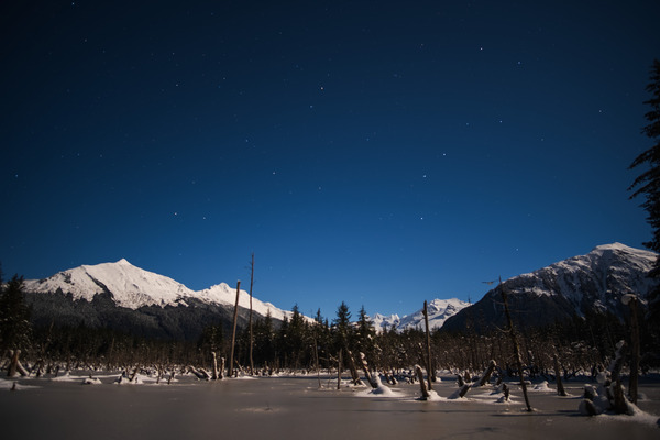 Mountain starscape by Caleb Nagel