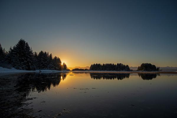 Ocean sunset by Caleb Nagel