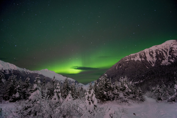 Mountain Aurora 3 by Caleb Nagel
