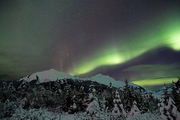 Mountain Aurora by Caleb Nagel