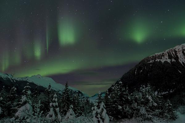 Mountain Aurora 2 by Caleb Nagel