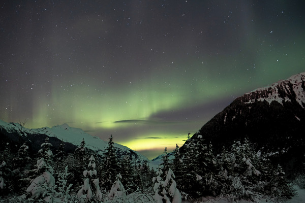 Mountain Aurora 4 by Caleb Nagel
