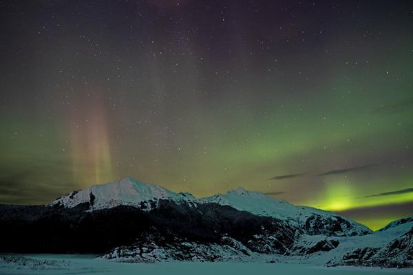 Glacier Aurora 5 by Caleb Nagel