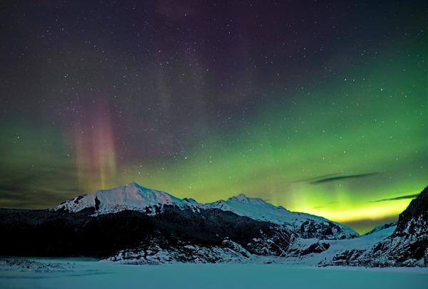 Glacier Aurora 4 by Caleb Nagel