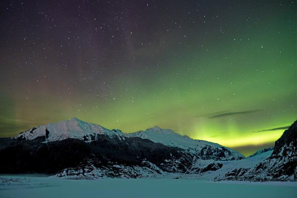 Glacier Aurora 3 by Caleb Nagel