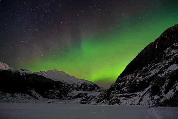 Glacier Aurora 2 by Caleb Nagel