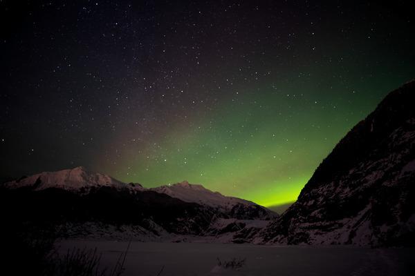Glacier Aurora 9 by Caleb Nagel
