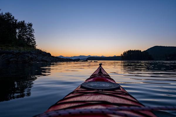 Kayak sunset by Caleb Nagel