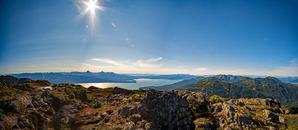 Mountain panorama by Caleb Nagel