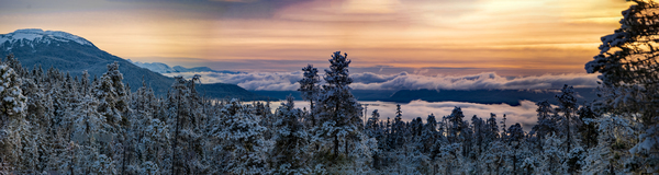 Sunset panorama 1 by Caleb Nagel