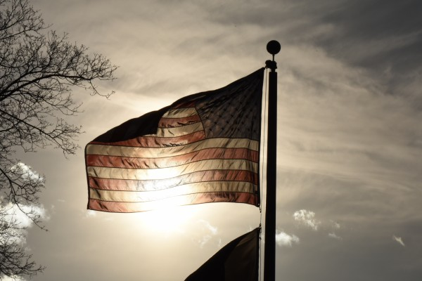 American Flag in the Sun by Cameraman Klein