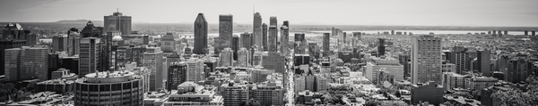 Downtown Montreal in Black & White by Caro Curiel Photography