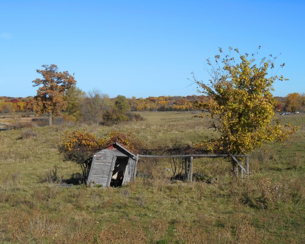 Farm Outbuilding in Fall by Castle Green Enterprises