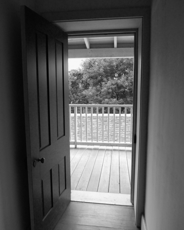 Open Door Black & White by Castle Green Enterprises
