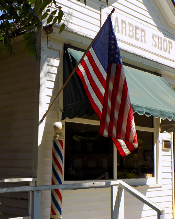 Patriotic Barber Shop by Castle Green Enterprises