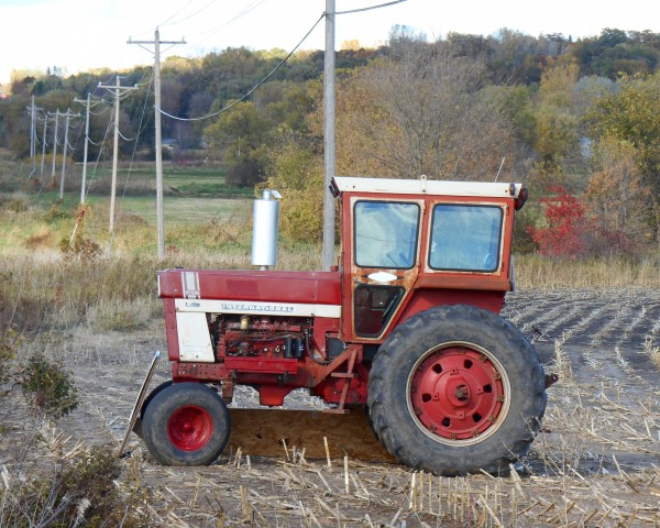 Tractor and Telephone Poles by Castle Green Enterprises