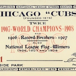 1909 Chicago Cubs score card by Chad Dollick